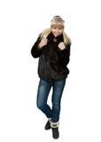 Stående av härligt blont slaviskt posera för flicka Arkivbild