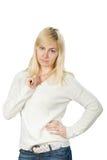 Stående av härligt blont slaviskt posera för flicka Fotografering för Bildbyråer