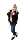 Stående av härligt blont slaviskt posera för flicka Arkivfoto