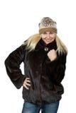 Stående av härligt blont slaviskt posera för flicka Arkivbilder