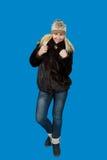 Stående av härligt blont slaviskt posera för flicka Royaltyfri Foto