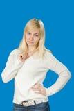 Stående av härligt blont slaviskt posera för flicka Royaltyfri Fotografi