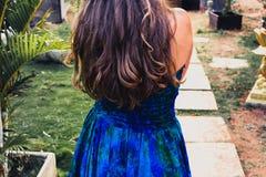 Stående av hår för  för ung flicka Ñ ett ursnyggt, sund livsstil och Fotografering för Bildbyråer