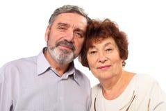 Stående av höga par, kram Royaltyfri Foto
