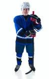 Stående av hockeyspelaren Royaltyfri Foto