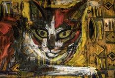 Stående av katten vektor illustrationer