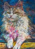 Stående av katten stock illustrationer