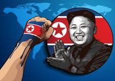Stående av Kim Jong-FN stock illustrationer