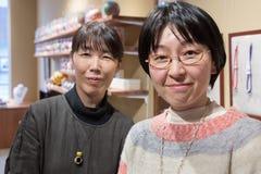 Stående av kvinnan för två japan inom ett lager fotografering för bildbyråer