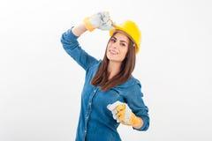Stående av kvinnan för ung arbetare Arkivfoto