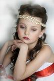 Stående av lilla flickan arkivfoto
