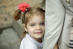 Stående av lilla flickan Arkivbild