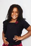 Stående av lite den jamaican flickan Royaltyfria Bilder