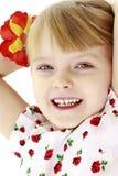 Stående av lite flickanärbilden Royaltyfria Bilder