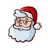 Stående av lyckliga gulliga Santa Claus i hatt Jul xmas-symbol den främmande tecknad filmkatten flyr illustrationtakvektorn vektor illustrationer