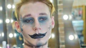 Stående av män med halloween makeup Royaltyfria Bilder