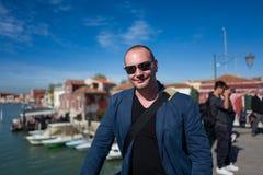 Stående av mannen i Murano Royaltyfria Foton