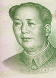 Stående av Mao Zedong på den 100 yuan sedeln (Kina) Royaltyfri Bild