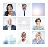 Stående av multietniskt olikt affärsfolk royaltyfri fotografi