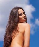 Stående av nakenstudie Arkivbild