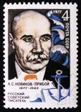 Stående av a Novikov-Priboi - rysk författare, circa 1977 Arkivbild