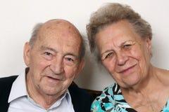 Stående av pensionärer arkivfoto