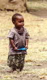 Stående av pojkemasaien Mara Arkivbild