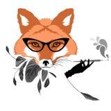 Stående av räven med cigaretten Arkivfoto