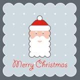 Stående av Santa Claus i ett rött lock Arkivfoto