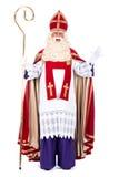 Stående av Sinterklaas Arkivbilder