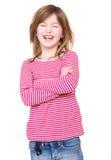 Stående av skratta för ung flicka Arkivbild