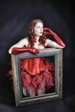 Stående av ståenden av den härliga kvinnan Fotografering för Bildbyråer