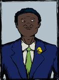 Stående av stolt svart tonårigt i dräkt Arkivbilder