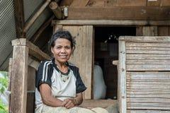 Stående av Toraja folk Arkivfoto