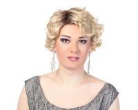 Stående av transvestit. Man som kläs som kvinna Royaltyfri Foto