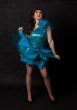 Stående av transvestit. Man som kläs som kvinna Royaltyfri Fotografi