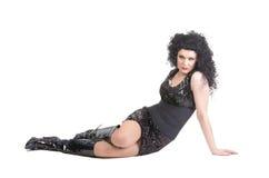 Stående av transvestit som ligger på golv Arkivbilder
