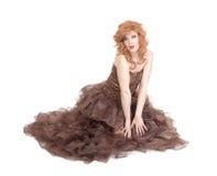 Stående av transvestit som sitter på golv Royaltyfri Fotografi