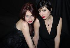Tvilling- syster två arkivbilder