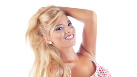 Stående av underbara blonda kvinnor Arkivbild