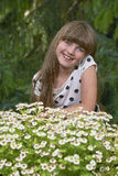 Stående av ung flicka Fotografering för Bildbyråer