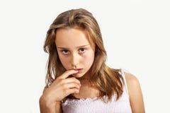 Stående av   ung tonårs- flicka Royaltyfria Bilder