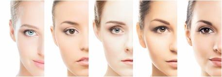Stående av unga kvinnor i makeup royaltyfri fotografi