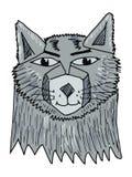 stående av wolfen Royaltyfria Bilder