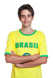 Stående brasiliansk man med kort svart hår royaltyfria bilder
