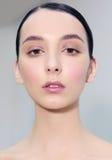 Stående en face, naturlig makeup royaltyfria bilder