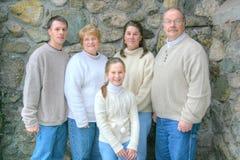 stående för 3 familj Arkivbild