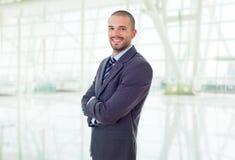 Stående för affärsman på kontoret fotografering för bildbyråer