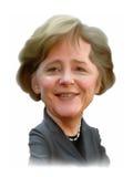 Stående för Angela merkelkarikatyr Arkivbild