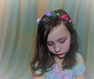 Stående för blommabarn royaltyfri bild
